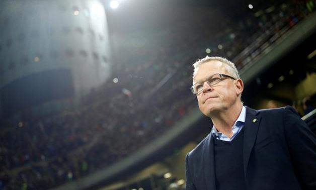 Janne Andersson un uomo a bordo campo
